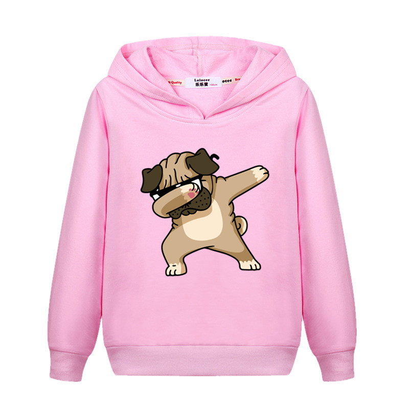 Girls New Fashion Dabbing Hoodie Kids Autumn Cotton Dab Coat Baby Boy Funny Cartoon Sweatshirts 3-14T Child Tops Printed Clothes 2