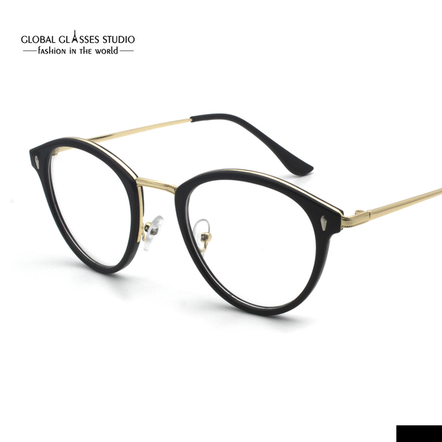 c13b47b5eab2b Free Shipping Retro Fashion Cat-eye Black Full Rimless Frame Lady Fashion  Eyeglasses Can fix RX lens RSG010