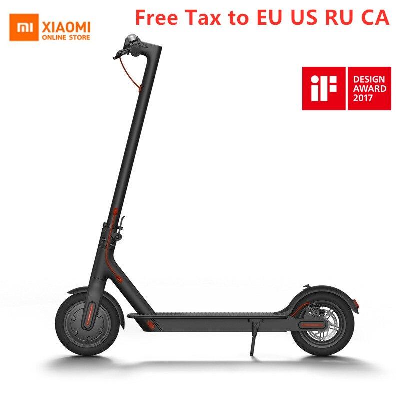 2019 Original Xiao mi jia M365 Scooter électrique intelligent planche à roulettes pliable pour adulte mi ni mi léger 30 KM mi leage Longboard