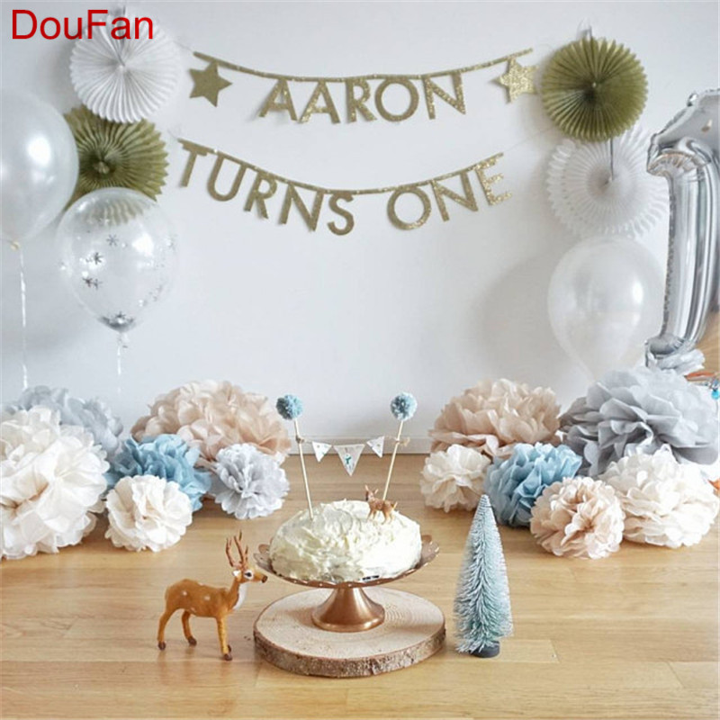 Diy Baby Nursery Floral Wall Decor: DouFan 1pc Paper Tissue Pom Pom Flower Ceiling Wall Decor