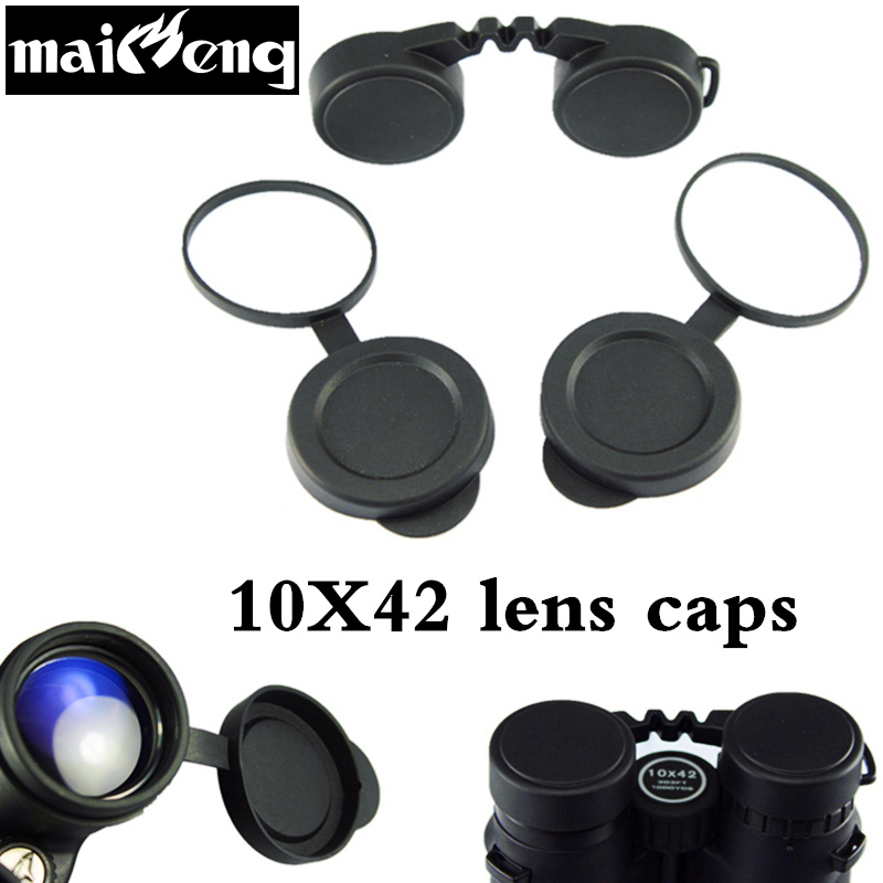 Professional 10x42 Binoculars Lens Caps Objective Protective Rubber Cover Eyepiece Dust Suit For Compact Binocular Best