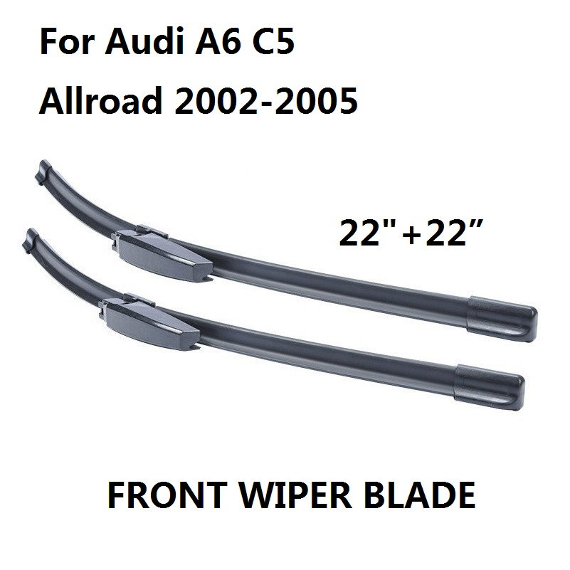 Auto Car Accessories Windshield Wiper Blades For Audi A6 C5 Allroad 2002 2003 2004 2005 Windscreen 22+22 image