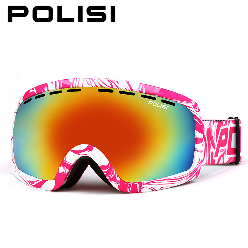 POLISI Winter Ski Protective Eyewear UV400 Skiing Snowboard Skate Glasses Double Layer Anti-Fog Lens Snowmobile Snow Goggles цена 2016