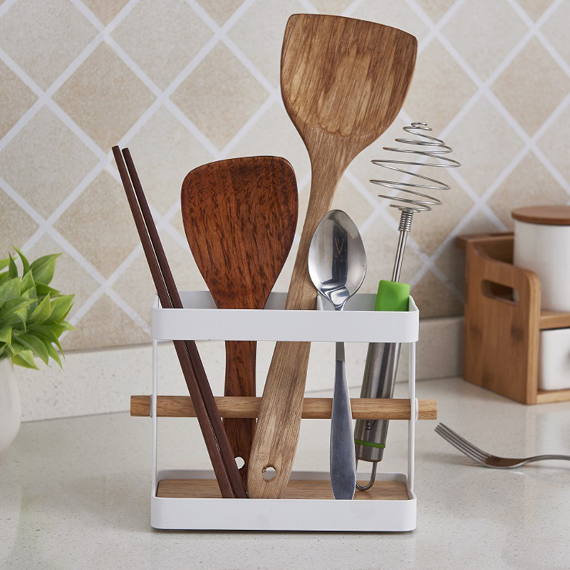 kitchen wooden storage rack draining rack kitchen utensils organizer cup holder dish cup dryer tray holder drying stand rack in racks holders from home - Kitchen Utensil Organizer