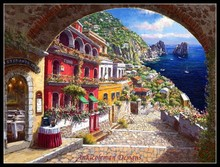 Needlework for embroidery DIY Craft DMC High Quality - Counted Cross Stitch Kits 14 ct Oil Painting - Archway Positano