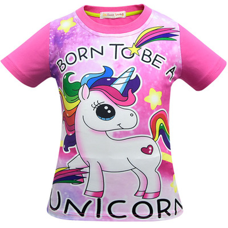 Kids Christmas Shirts.Us 8 96 30 Off Summer Unicorn Girls T Shirts Tops For My Little Baby Girl Children Clothing Tops Tees Kids Christmas Shirts Toddler Tshirt Pony In