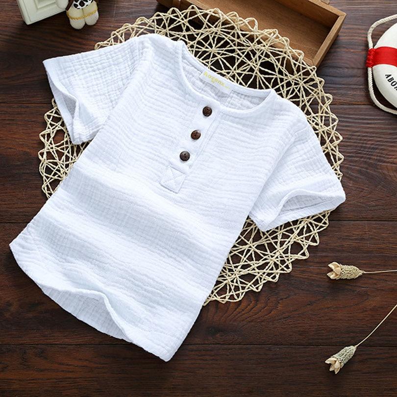 Linen 2018 Cotton font b Baby b font Boy Girl Summer Autumn T Shirts Toddler Comfortable