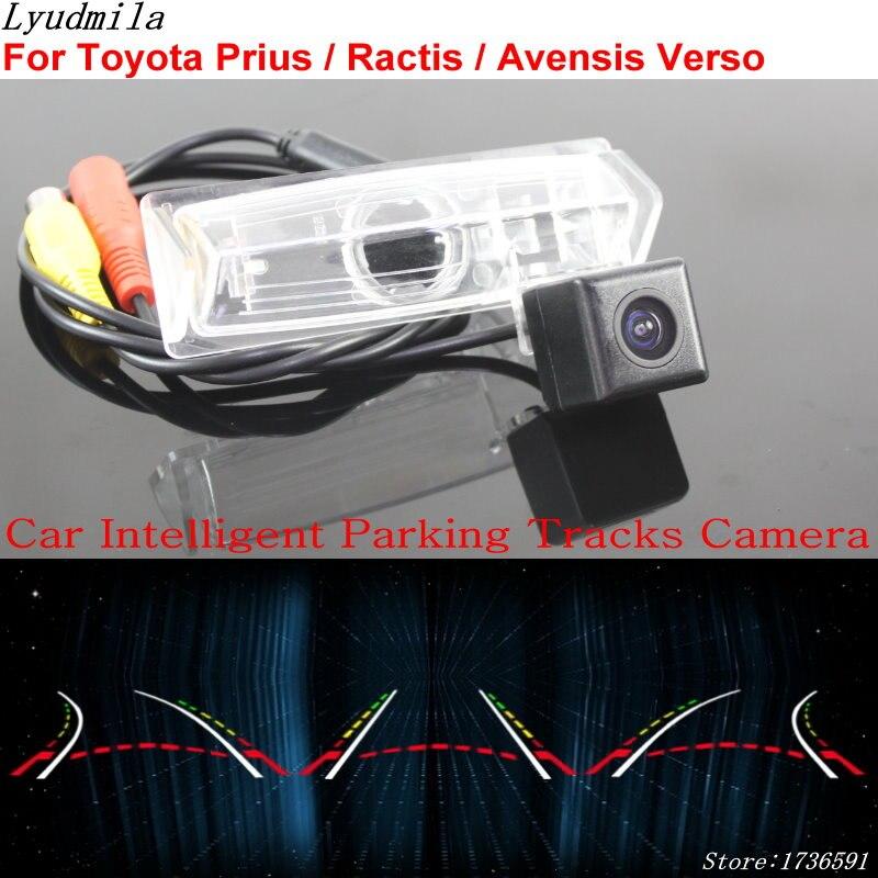 Lyudmila Car Intelligent Parking Tracks Camera FOR Toyota Prius Ractis Avensis Verso Car Back up Reverse