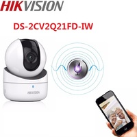 Hikvision Mini WiFi 2MP Network PT Camera DS 2CV2Q21FD IW Build in microphone and speaker support two way audio
