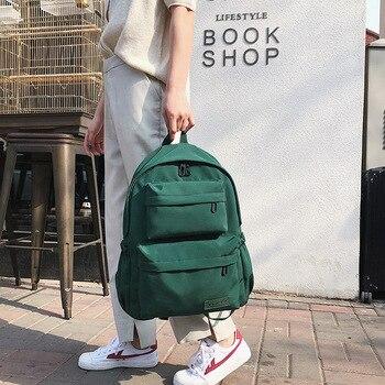 977b694d1016 Harajuku корейский зеленый рюкзак женская сумка Оксфорд твердый школьный  ранец сумка для девочки-подростка рюкзак женский рюкзак Mochila 2019