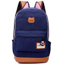 Nouvelle toile le chat oreilles de mode hommes et femmes sac à dos version Coréenne de l'afflux de sac d'épaule sac à dos cartable MI6542