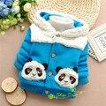 2016 Autumn and Winter Baby Boys Panda thick  Parkas,0-3 Old Year Fashion Warm Coat,V1588