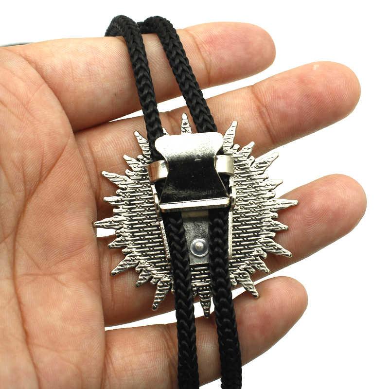 Bolo-0028 nova chegada baphomet invertido pentagrama cabeça de cabra ocidental bolo gravata cúpula de vidro redondo baphomet jóias satanismo colar