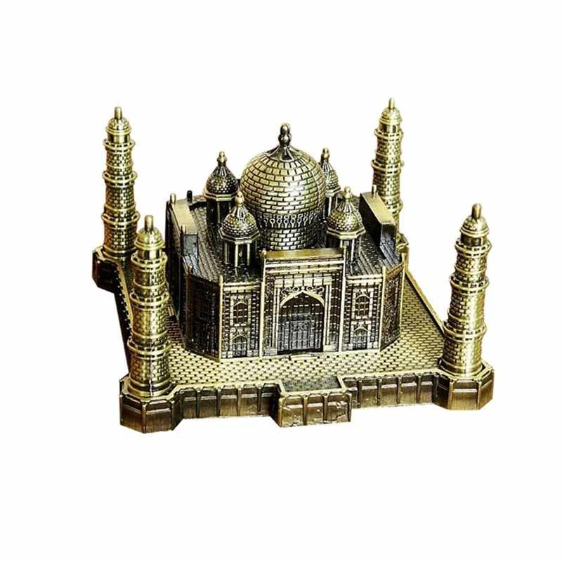 India Taj Mahal Decoration Handicraft World Landmarks Architecture Building Iron Model Art Home Taj Mahal Souvenir Gifts