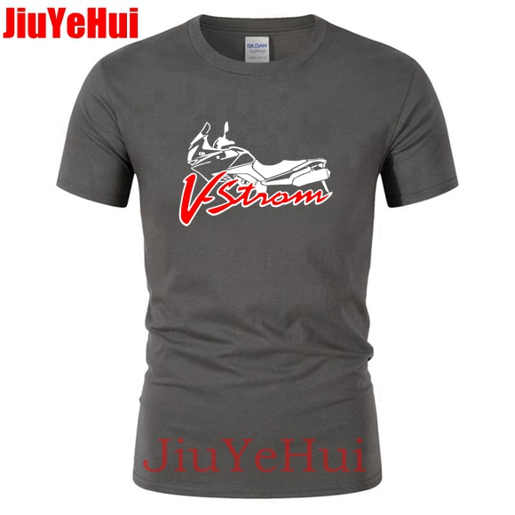 New Men's   T     Shirt   Motorcycle V-strom DL 650 Motorsport Team Logo   T  -  shirt   Men Cotton Short Sleeve   T     shirts   High Quality TShirt 23