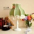 В европейском стиле садовых спальня ночники американский исследование урожай зеленой ткани декоративные фонари