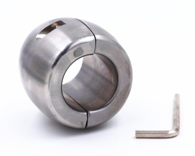 Estiradores de bolas colgantes de escroto para estirar sujeción el pene con sujeción estirar de pene anillo de acero inoxidable sólido Envío Directo d0e46e