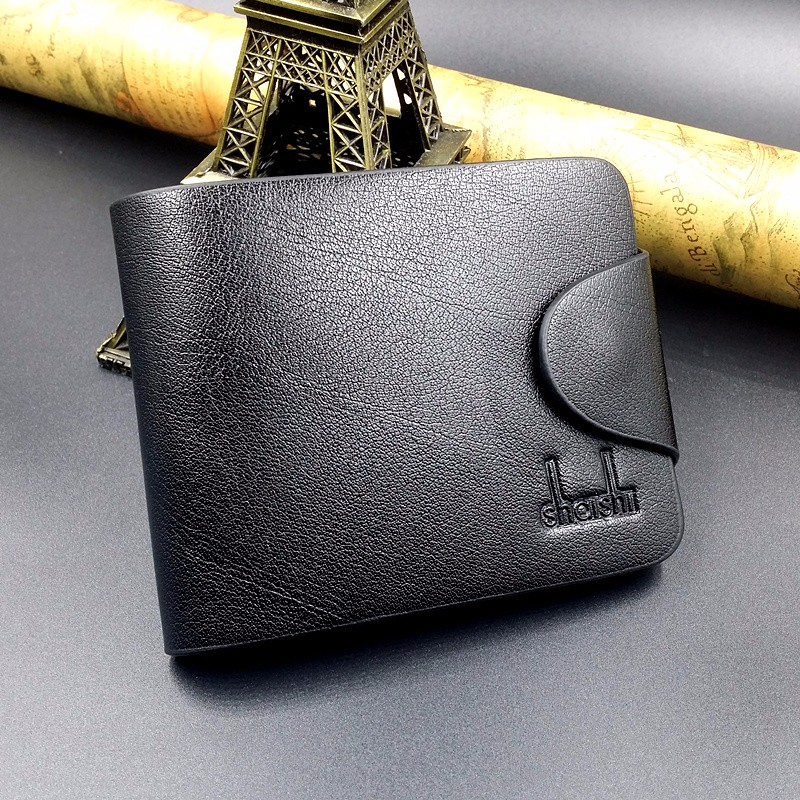 Brand new Fashion Leather Wallet for men,  Wholesale leather Men Wallets mance 13colors new fashion brand