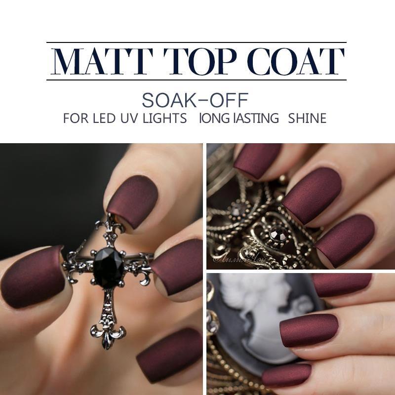 Modelones 10ML Matte Top Coat Nail Varnish Led Nail Gel Lacquer Long ...