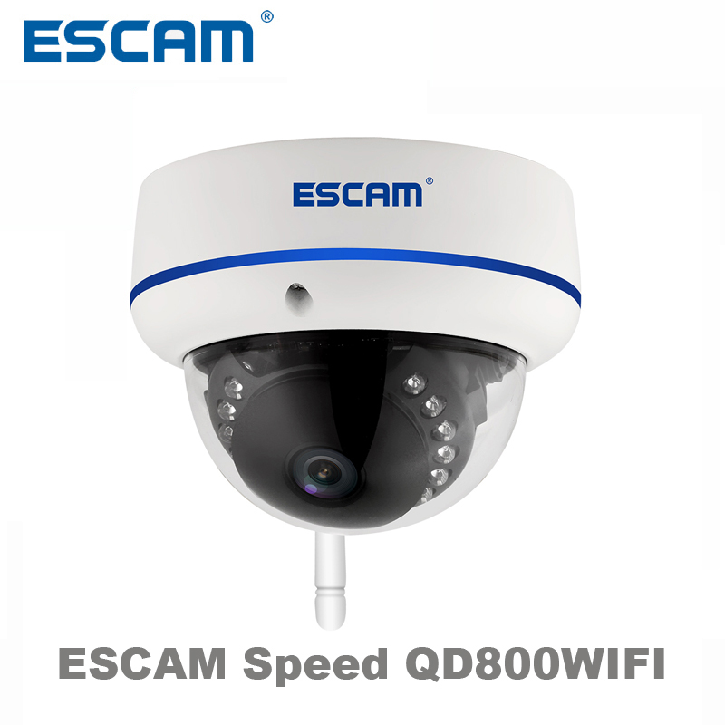 ESCAM Speed QD800WIFI 2MP wifi outdoor IP IR Dome Camera IP66 waterproof Onvif P2P wireless Night Vision Security CCTV Camera escam qd900 wifi ip camera 2mp full hd 1080p network infrared bullet ip66 onvif outdoor waterproof wireless cctv camera