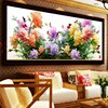 5D Diy Mosaic Art Needlework Peony Flower Diamond Painting Rhinestone Pasted Diamond Cross Stitch Diamond Flower