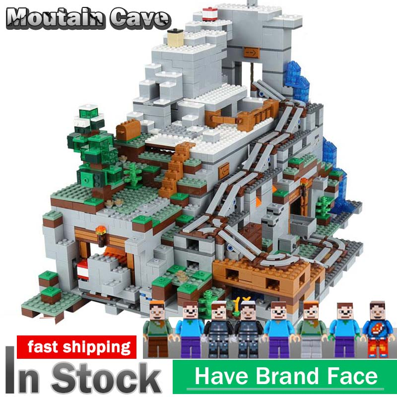 My World 18032 Model Building Blocks Bricks compatible with legoing Miniecraft 21137 Mountain Cave Set Kid ToysMy World 18032 Model Building Blocks Bricks compatible with legoing Miniecraft 21137 Mountain Cave Set Kid Toys