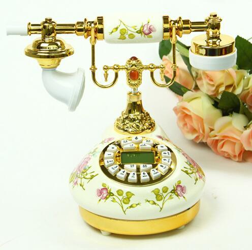 Antique telephones European Ceramic telephone home decoration