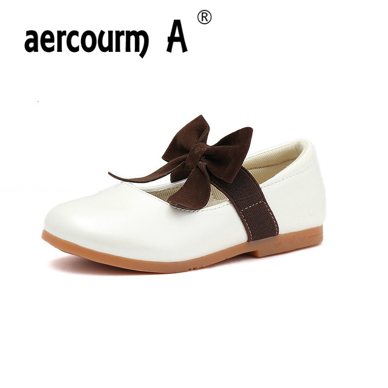 Aercourm A 2017 Girls Princess Shoes Children Shoes Cute Bow Big Baby Performance Dance Shoes Girls Children Sneakers