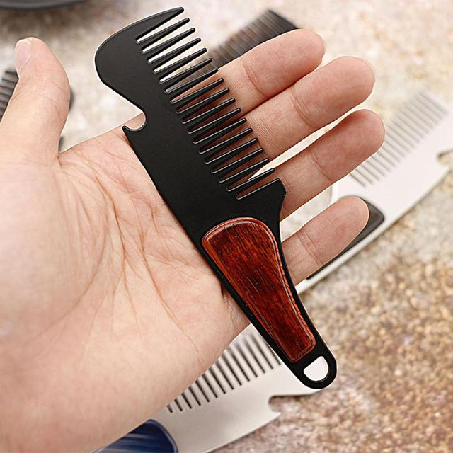 BellyLady Portable Wooden Multifunctional Styling Comb Beard Comb Bottle Opener