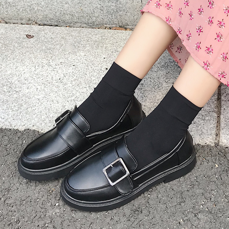 Femmes Mocassins Chaussures Pour Des forme Noir Marque Plate Black Bout Confortable Classique Rond Appartements 2018 Casual brown Automne xqInzZnp