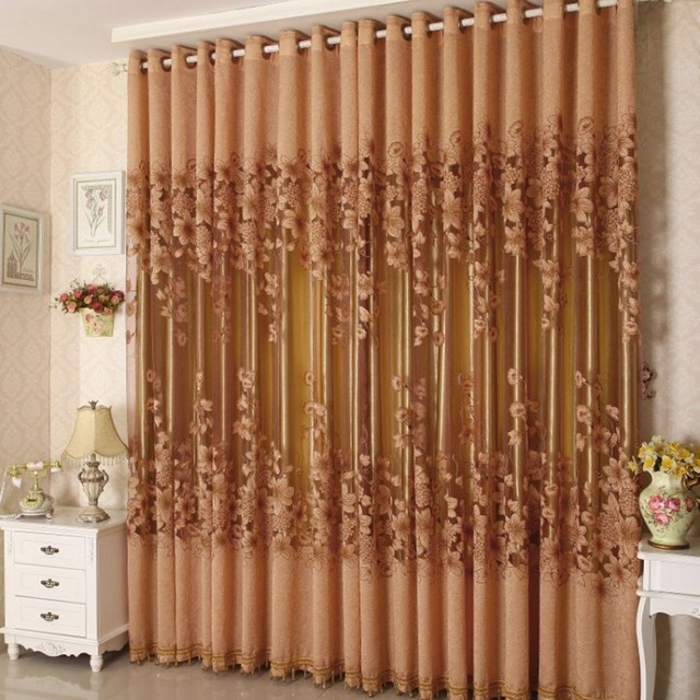 2 Pcs 1 M 2 5 M Europeenne Jacquard Matin Glory Floral Brule Out
