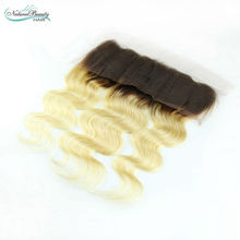 Virgin 13×4 Brazilian 1b /613 Blonde Lace Frontal Closure Swiss Lace Body Wave Hair free /middle/three part style on sale
