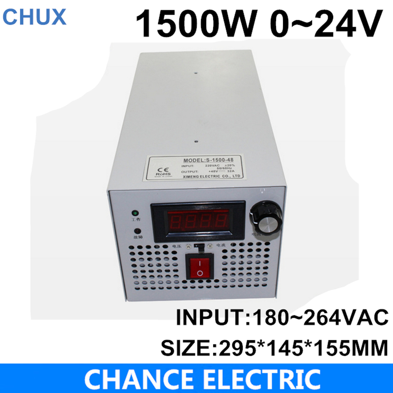 LED Driver AC Input 220V to DC 1500W 0~24V 62.5A adjustable output Switching power supply Transformer for LED Strip light ms 50 24 24v 2 1a switching power supply 85 264v ac input 5v dc output 50w led driver