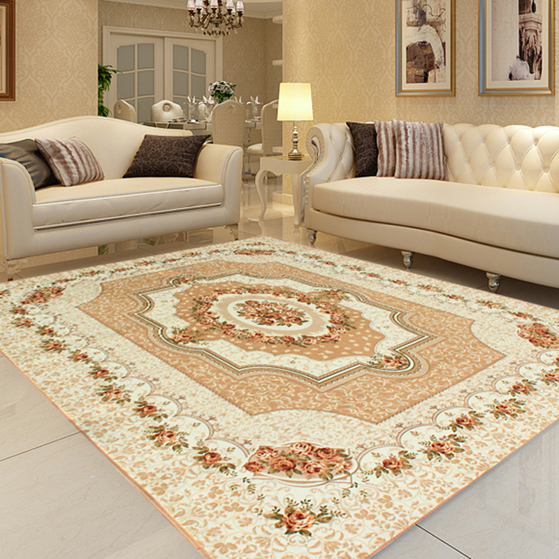 Honlaker 200x240 CM tapis salon grand classique européen tapis luxe Table basse gros tapis