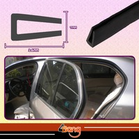 Pillar 16mmx7mm U Channel Black Car Window Door Seal Edge Trim Rubber Protector Soundproof Dustproof Strip 315 800cm