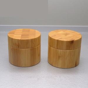 Image 4 - 250g di bambù contenitore di legno di Plastica Vasetto di Crema, vasetti di crema di packaging cosmetico di bambù Vuota di plastica vaso Cosmetico con coperchio riutilizzo