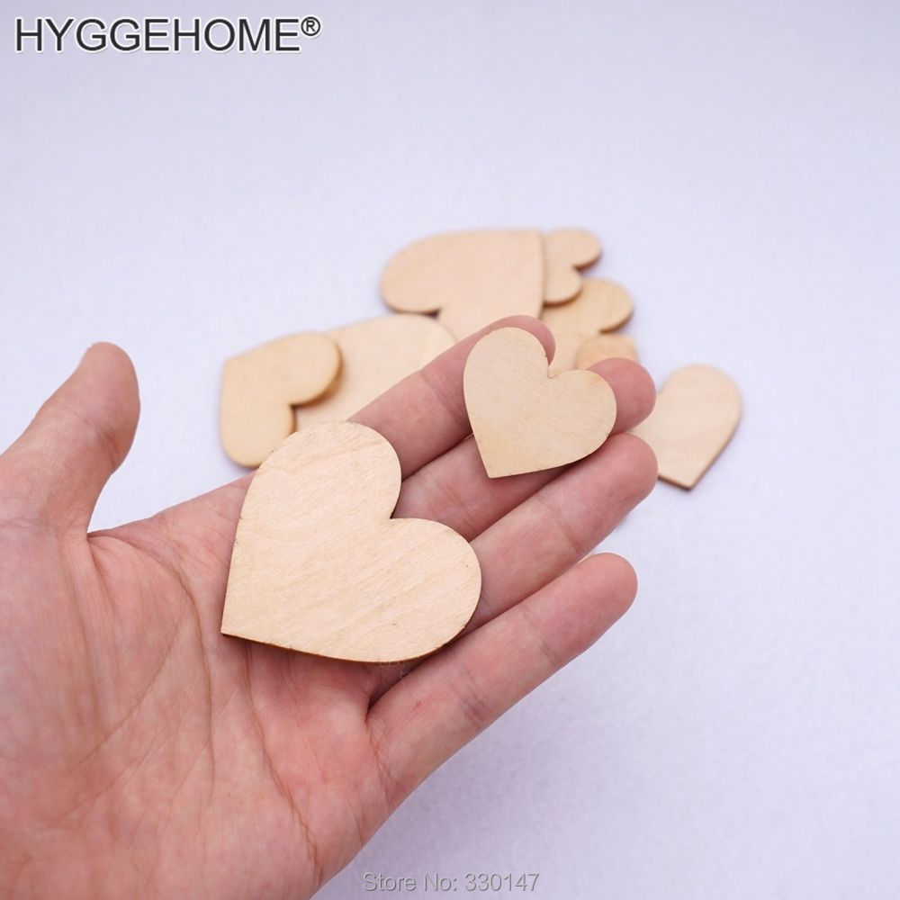 Customized Wood Heart Favors Save the Date Wood Magnets Invitation ...