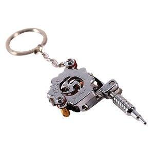 Image 4 - 1 מחשב נייד מיני קעקוע מכונת Keychain קעקוע כלים פאנק סגנון מפתח מחזיק כמו תליון קישוט עבור גברים & נשים מתנת מלאכות