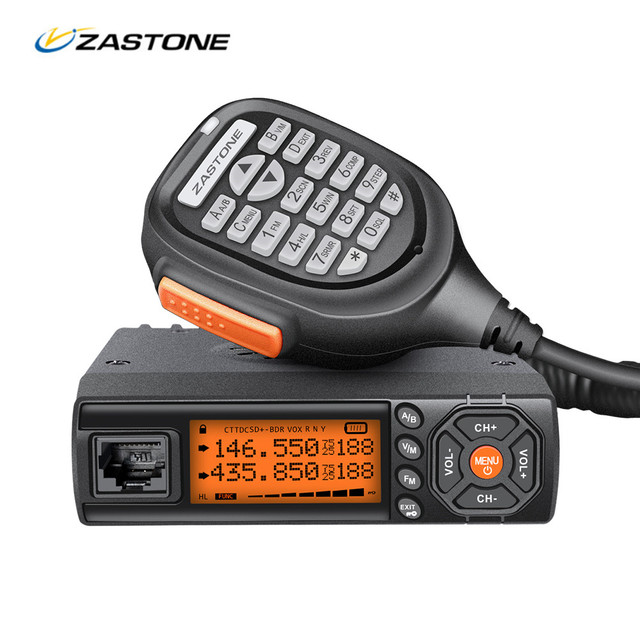 Zastone Car Walkie Talkie VHF UHF Mini Mobile Radio HF Transceiver Two Way CB Ham Radio For Hunting Radio Station
