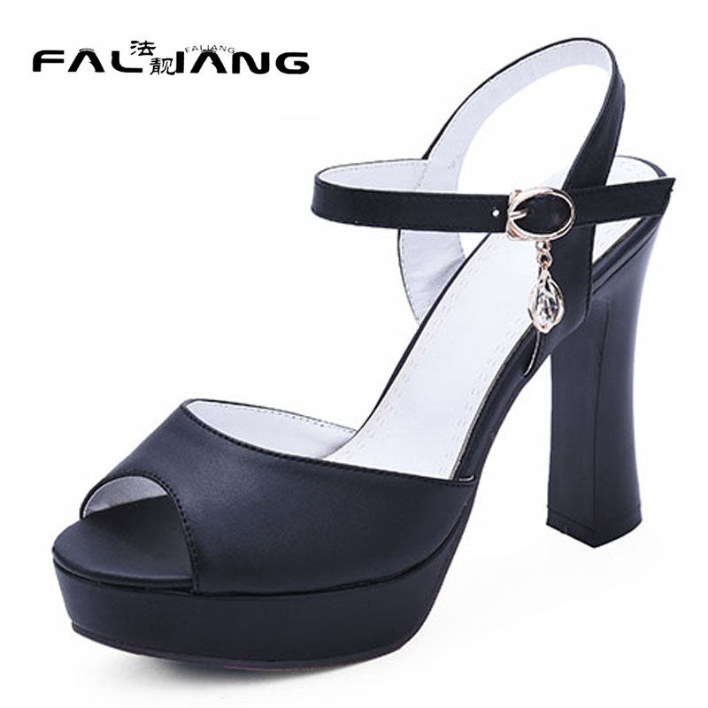 New arrival summer plus size 11 12 fashion Mature sexy womens Peep Toe shoes super High Heels summer sandals ladies sandals zorssar brand 2017 high quality sexy summer womens sandals peep toe high heels ladies wedding party shoes plus size 34 43
