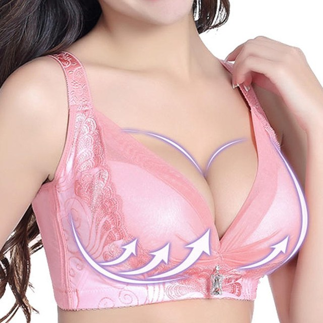 dc2a96b8aba2c Plus Size Women Push Up 3 4 Cup Bra