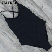 ZMTREE 2017 Sexy One Piece Swimsuit Red Grey Black Bodysuit Padded Beach Bathing Suit Women Swimwear Bandage Monokini Swimsuit