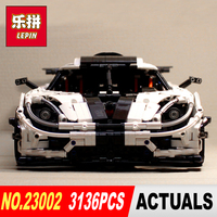 New LEPIN 23002 3136Pcs Technic Series Traffic Jam Model Building Blocks Bricks Classic Compatible To Boy