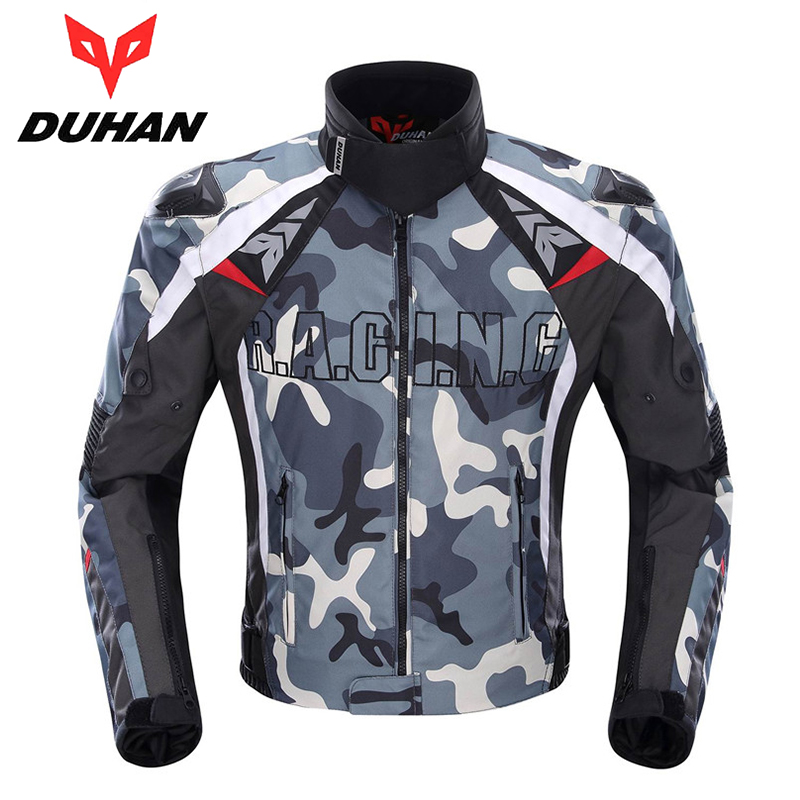 duhan mens oxford cloth motocross off road racing jacket guards clothing camouflage motorcycle alloy shoulder protector jacket