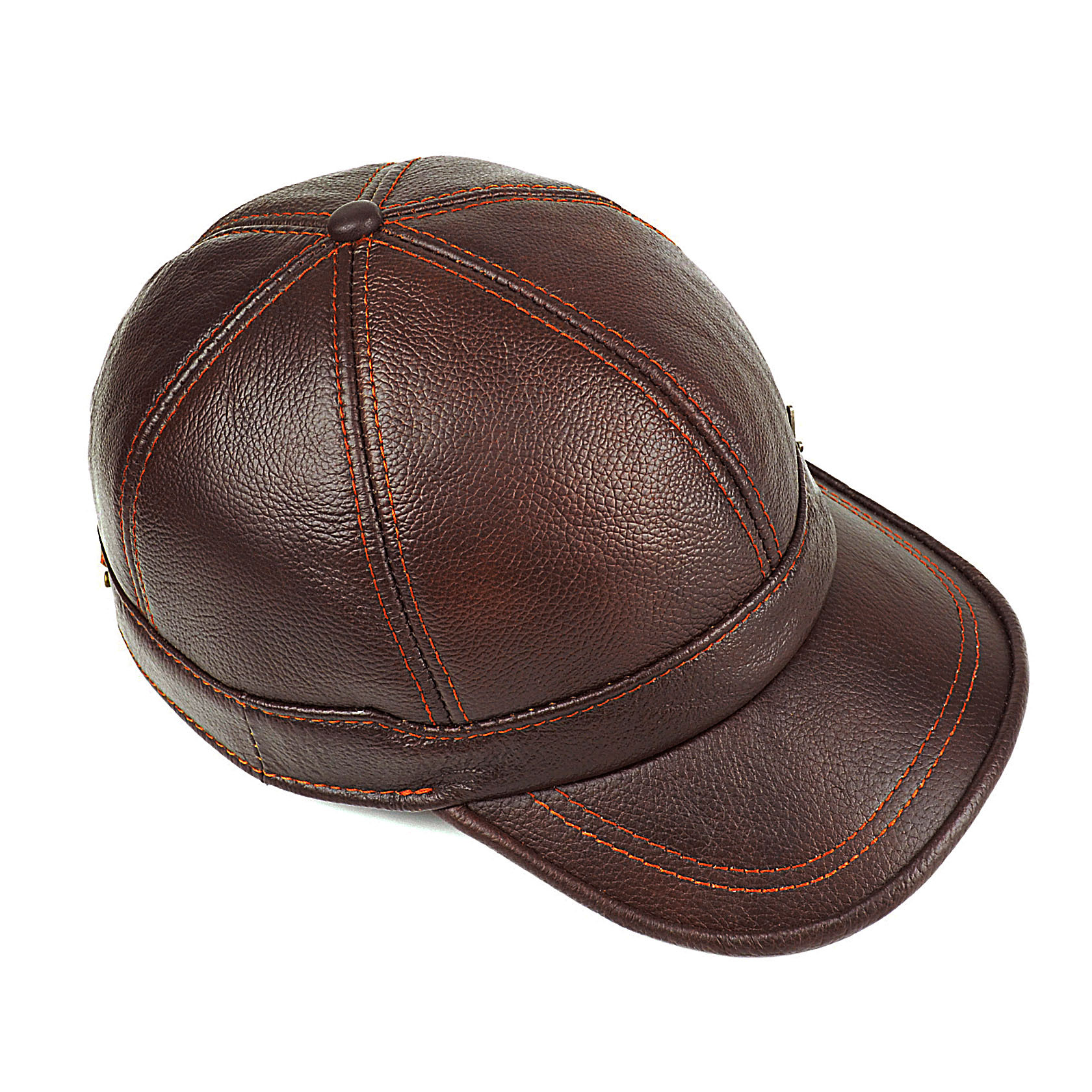 Adult New Genuine Leather Hat Men 39 s Warm Genuine Leather Baseball Cap Male Winter Outdoor Ear Protection Cap Leather Hat B 8385 in Men 39 s Baseball Caps from Apparel Accessories