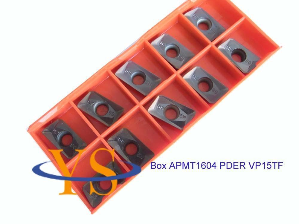 New Ystool Bulk 10pcs APMT1604 PDER Carbide inerts indexable insets new