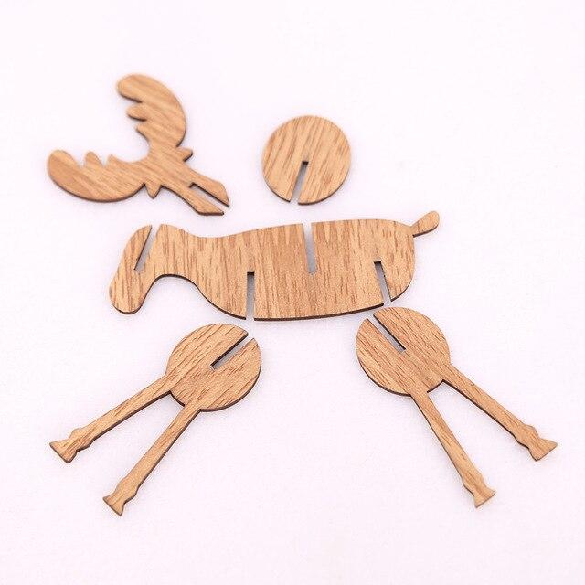 Renne De Noël en bois 3