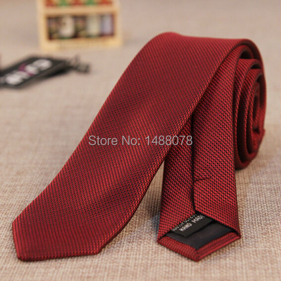 Burgundy Tie Small Black Dots 2015 Brand Slim Men Ties Designers Fashion Jacquard Narrow Tie Gravata Mens Necktie Burgundy Tie