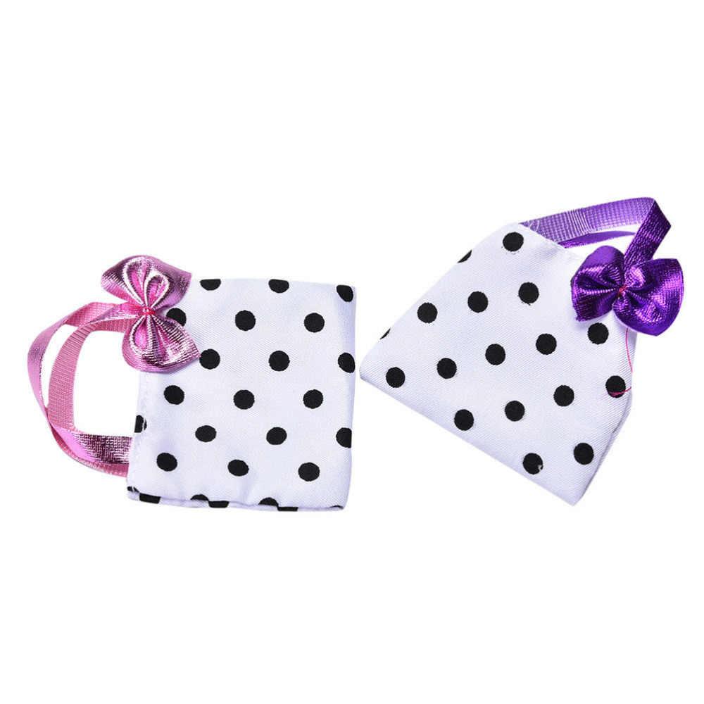 1 шт., 2 цвета, модная кукольная сумка, милая сумка в горошек для девочек, детская игрушка цвет в ассортименте