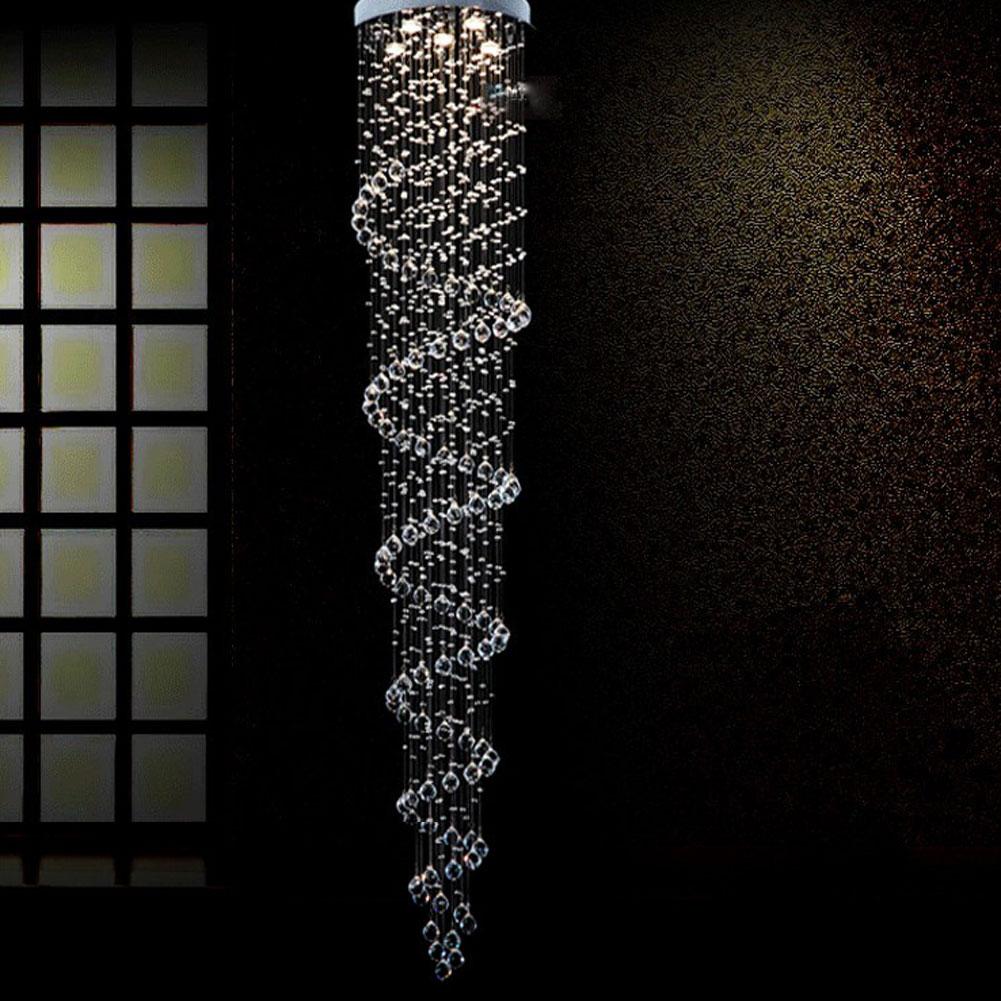luxury large modern chandelier k9 crystal ball spiral art luminaire decoration luster pendant. Black Bedroom Furniture Sets. Home Design Ideas